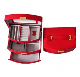 Large Auto Pull-Out Leather Jewelry Box (FD-305)