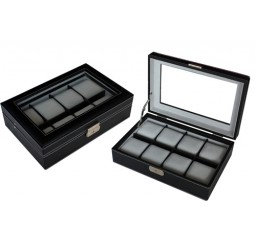 FD 8pc XL Leather Watchbox w/ Window (FD-54)